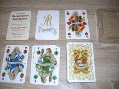 Spielkarten August der Starke und seine Zeit Erzgebirge original DDR