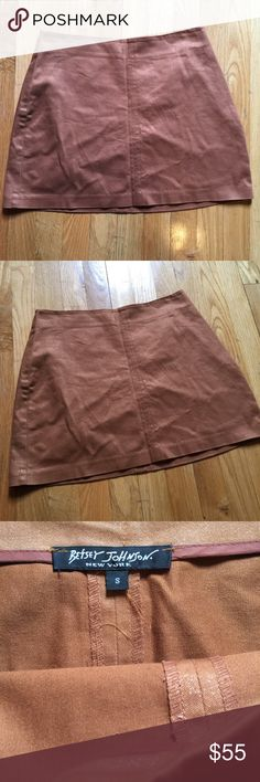Betsey Johnson Brown Tan Metallic Mini Skirt Betsey Johnson Skirt mini length and has metallic threading :) super cute and in good condition! Betsey Johnson Skirts