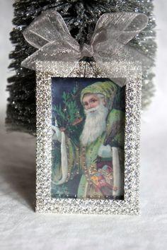 Christmas ornament handmade santa ornament tree ornament by mysweetmaison