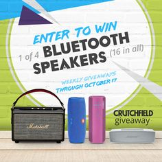 Enter to win 1 of 16 BT speakers Crutchfield is giving away