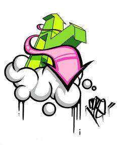 A bit of ink, a bit of digital. CUTE by Cute 7 Wizard Graffiti, Graffiti Words, Graffiti Doodles, Graffiti Lettering Fonts, Graffiti Wall Art, Graffiti Drawing, Graffiti Alphabet, Tattoo Lettering Fonts, Street Art Graffiti