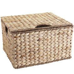 Carson Natural Wicker Rectangular Lidded Storage Basket | Pier 1 Imports
