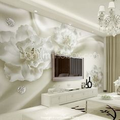 Décoration artistique 3D Fond d'écran pour la maison Contemporain Revêtement , Toile Matériel adhésif requis Mural , Couvre Mur Chambre de 5595963 2017 à €147.97
