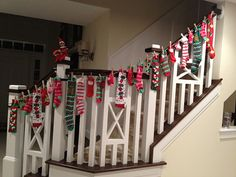Neat way to decorate a staircase