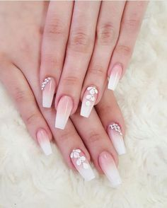 Diamond Nails: 30 Nail Designs with Diamonds Diamond Nails: 30 Nail Designs with DiamondsDiamond Nails: 30 Nail Designs with Beautiful Diamond Nail Art DesignsDiamonds ar Elegant Nail Designs, Elegant Nails, Nail Art Designs, Diamond Nail Designs, Diamond Nail Art, Prom Nails, Fun Nails, Gorgeous Nails, Pretty Nails