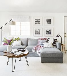 Grey couches living room, living room modern, home living room, liv Living Room Modern, Home Living Room, Living Room Furniture, Living Room Decor, Home Renovation, Minimalist Home Decor, Minimalist Layout, Sofa Styling, Affordable Home Decor