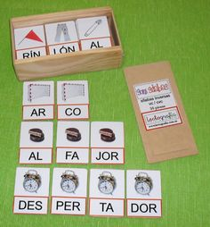 Words with pics Bilingual Classroom, Infant Activities, Literacy Centers, Phonics, Kids And Parenting, Language Arts, Spanish, Teaching, Holiday Decor