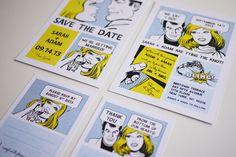 Comic Strip- Wedding invitation