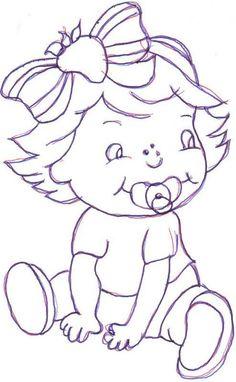 desenhos para pano de prato boneca bebe