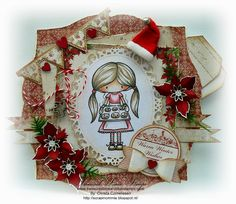 A wonderful handmade Christmas card using the Just Some Lines EMO COOKIE BAKER.    Treasured Times Rubber Stamps Inspirational Blog. Handmade Christmas, Winter, Emo, Advent Calendar, Christmas Cards, Card Making, Cookies, Cool Stuff, Stamps