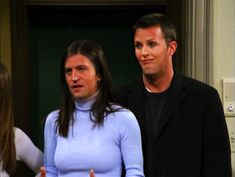 Chandler Gellar and Monica Bing from Friends:
