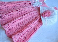 Free+Easy+Baby+Crochet+Patterns | Free Easy Crochet Patterns For Baby Dresses in…
