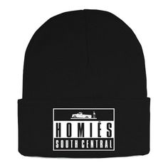 Brian Lichtenberg Homies Rollin Beanie ($65) ❤ liked on Polyvore featuring accessories, hats, beanies, brian, women, acrylic hat, brian lichtenberg, acrylic beanie hat, embroidered beanie and embroidery hats