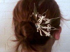 clock hand hair pin