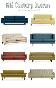 Love the look of Mid Century Modern Sofas but prefer the comfort of a bigger sofa. Mid Century Modern Kitchen, Mid Century Modern Sofa, Mid Century Decor, Mid Century House, Mid Century Modern Design, Mid Century Modern Furniture, Mid Century Sofa, Modern Couch, Mid-century Modern
