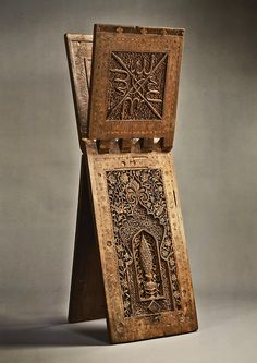 Stand for a Qur'an Manuscript.) Hasan Sulaiman Isfahani (A. Iran or Central Asia Islamic Calligraphy, Calligraphy Art, Islamic Architecture, Art And Architecture, Art Nouveau, Art Decor, Decoration, Book Stands, Up Book