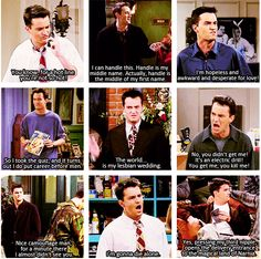 Chandler Bing, everybody. camouflage one is my fav:)