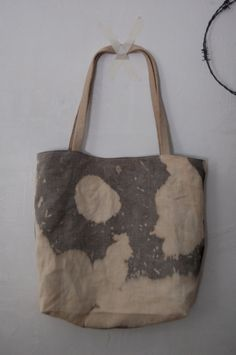 tote no. 5.Liane You could dye the fabric and construct the bag