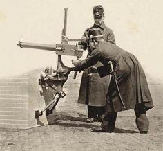 "peashooter85: "" Dutch soldiers with a Gardner machine gun, late 19th century. """