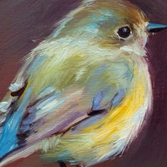 Red-flanked Bluetail - Open Edition Print from original oil painting - kunst Watercolor Bird, Watercolor Paintings, Oil Paintings, Watercolor Artists, Indian Paintings, Abstract Paintings, Landscape Paintings, Art Sur Toile, Pastel Art