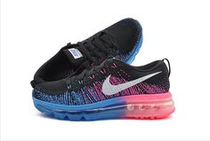 Nike Flyknit Air Max 2014 Women Shoes Blue Blue Pink