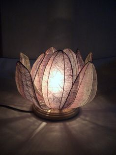 DIY Japanese Paper Lantern: 和紙ランプシェード 作り方
