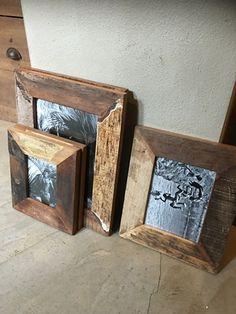 Oud houten Fotolijst fotolijstje sloophout A4 lijstje landelijk vintage doorleefd hout