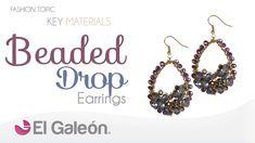 Fashion Topic El Galeón Beaded Drop Earrings (Aretes en Forma de Gota)