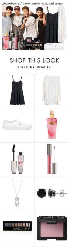 """""""Photoshoot with Aaron, Taylor, Cam, and Carter"""" by harmony-magcon-girls ❤ liked on Polyvore featuring H&M, Vans, Victoria's Secret, Rimmel, Perricone MD, Lucky Brand, BERRICLE, Forever 21, NARS Cosmetics and gigglesfashionsets"""
