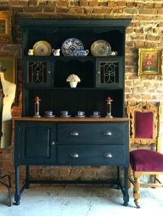 Antique Welsh Dresser Solid Oak Shabby Chic by SplendidTrading