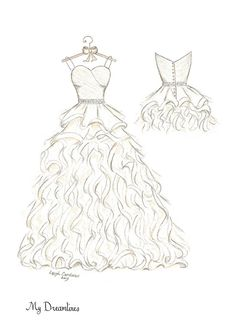 9 best uhu images dress illustration fashion illustrations Designer Clothes wedding dress sketch given for a wedding gift and anniversary gift click here to see