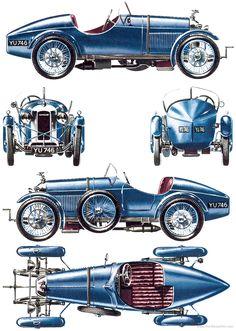 Amilcar CGSS (1927) Blueprint