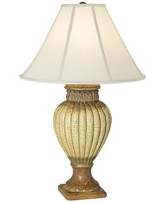 CLOSEOUT! Pacific Coast Ribbed Jar With Leaves Table Lamp