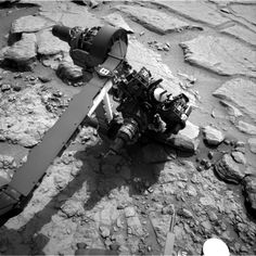 Sneaking up on a rock... shhhh! (From Sarcastic Rover.)