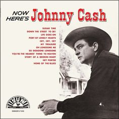 Johnny Cash Now Here's Johnny Cash on LP From the minute he walked into Sun Studios, Johnny Cash began a legendary career that would see him become one of the biggest and most influential musicians of Johnny Cash June Carter, Johnny And June, Here's Johnny, Johnny Cash Albums, Johnny Cash Vinyl, Country Singers, Country Music, Outlaw Country, Oh Lonesome Me