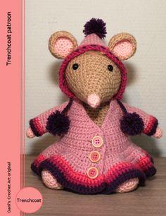 Trenchcoat crochet pattern, haak patroon, Dani's Crochet Art.