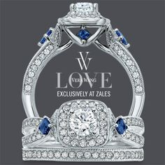 .Vera Wang Bridal Set with diamonds and sapphires...absolutely BEAUTIFUL !!!