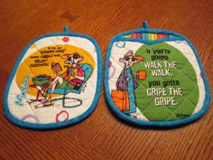 Maxine Hot Pad & Oven Mitt Kitchen Set Makes a Great by nanajsews, $22.50