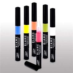 The Face Paint Shop - Mehron B.L.A.M.E. Black Light Makeup Pens, $25.00 (http://www.facepaintshop.com/paradise-b-l-a-m-e-black-light-makeup-pens/)