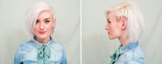 short hair style: faux side shave/braid     indiejane
