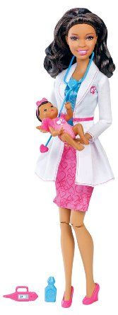 Amazon.com: Barbie I Can Be Baby Doctor African-American Doll: Toys & Games