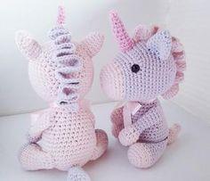 Crochet unicorn doll plush kawaii baby toy unicorn birthday