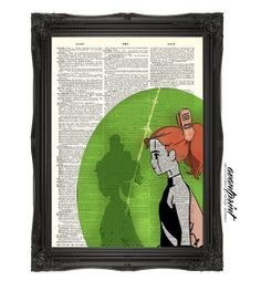 Arrietty the Borrower Studio Ghibli Inspired Art Print on an Unframed Upcycled Bookpage