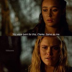 "#The100 2x14 ""Bodyguard of Lies"" - Lexa and Clarke"