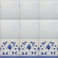 Border Tiles, Blue Tiles, Portuguese, Hand Painted, Country Living, Biscotti, Sims 4, Provence, Backsplash