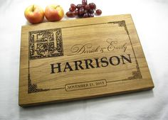 personalized wedding gift cutting board monogram wedding gift christmas gift housewarming gift anniversary gift engagement gift wedding gift