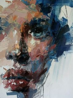 40 Acrylic Palette Knife Painting Techniques and Ideas - Cartoon District Palette Knife Painting, Wow Art, Fine Art, Art And Illustration, Illustrations, Portrait Art, Portrait Ideas, Figure Painting, Figurative Art