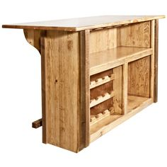 Homestead Rough Sawn Deluxe Bar with Foot Rail
