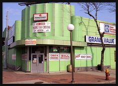 Cunningham's Drug Store (Oakman Blvd & Grand River) Detroit.  Walked here with my mother as a child in the early 1950's.  This photo was taken many years later, but the structure is the same.