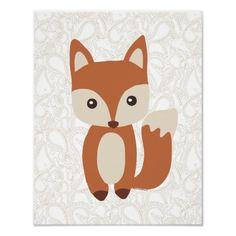 Cute Baby Fox Poster